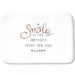 Decorative Bathroom Mats | Zara Martina - A Smile Orange Sparkle | Inspiring Typography Lady Like