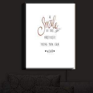 Nightlight Sconce Canvas Light | Zara Martina - A Smile Orange Sparkle