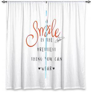 Decorative Window Treatments | Zara Martina - A Smile Orange | Inspiring Typography Lady Like