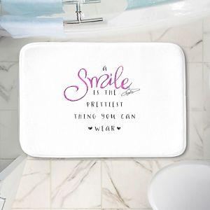 Decorative Bathroom Mats | Zara Martina - A Smile Pink Sparkle | Inspiring Typography Lady Like