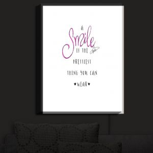Nightlight Sconce Canvas Light | Zara Martina - A Smile Pink Sparkle
