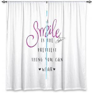 Decorative Window Treatments | Zara Martina - A Smile Pink Sparkle | Inspiring Typography Lady Like