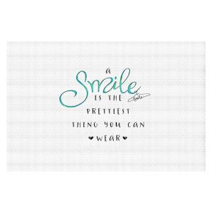 Decorative Floor Coverings | Zara Martina - A Smile Turquoise | Inspiring Typography Lady Like