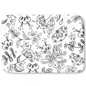 Decorative Bath Mat Large from DiaNoche Designs by Zara Martina - Band With Flora