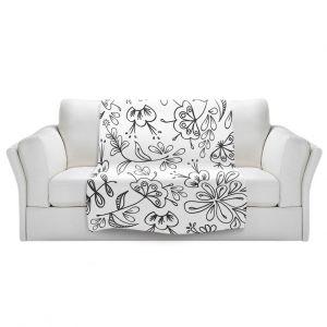 Artistic Sherpa Pile Blankets   Zara Martina - Band With Flora