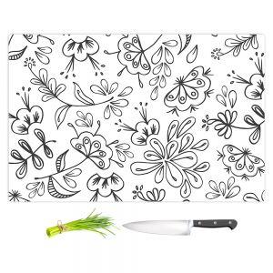 Artistic Kitchen Bar Cutting Boards | Zara Martina - Band With Flora