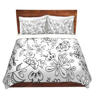 Artistic Duvet Covers and Shams Bedding | Zara Martina - Band With Flora