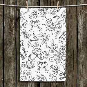 Unique Hanging Tea Towels | Zara Martina - Band With Flora | Flowers Patterns