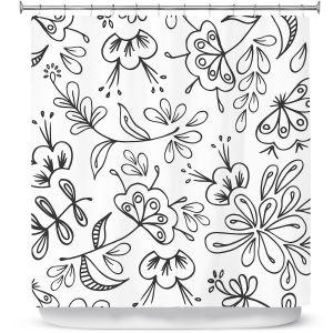 Premium Shower Curtains | Zara Martina - Band With Flora