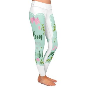 Casual Comfortable Leggings | Zara Martina - Bloom Where U are Planted l | Inspiring Typography Lady Like