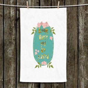 Unique Bathroom Towels | Zara Martina - Bloom Where U are Planted ll | Inspiring Typography Lady Like