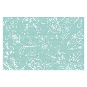 Decorative Floor Coverings | Zara Martina - Blue Flora Mix