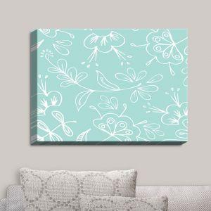 Decorative Canvas Wall Art | Zara Martina - Blue Flora Mix