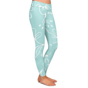 Casual Comfortable Leggings | Zara Martina - Blue Flora Mix