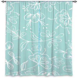 Decorative Window Treatments | Zara Martina - Blue Flora Mix