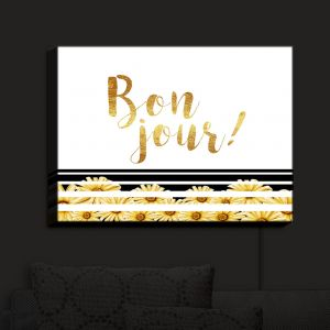 Nightlight Sconce Canvas Light | Zara Martina - Bon Jour Floral Gold