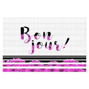 Decorative Floor Coverings | Zara Martina - Bon Jour Floral Purple | Inspiring Typography Lady Like