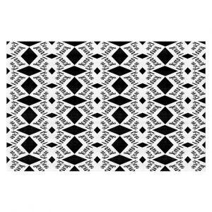 Decorative Floor Coverings | Zara Martina - Bonjour Pattern Black White
