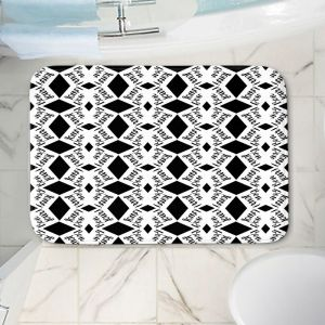 Decorative Bathroom Mats   Zara Martina - Bonjour Pattern Black White