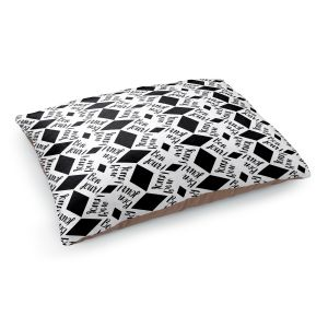 Decorative Dog Pet Beds | Zara Martina - Bonjour Pattern Black White