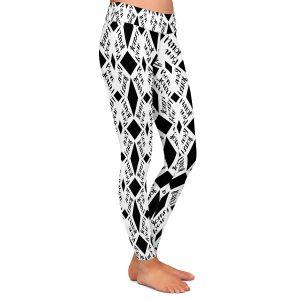 Casual Comfortable Leggings | Zara Martina - Bonjour Pattern Black White