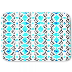 Decorative Bathroom Mats   Zara Martina - Bonjour Pattern Blue