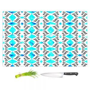Artistic Kitchen Bar Cutting Boards | Zara Martina - Bonjour Pattern Blue