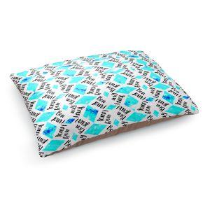 Decorative Dog Pet Beds   Zara Martina - Bonjour Pattern Blue