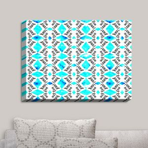 Decorative Canvas Wall Art | Zara Martina - Bonjour Pattern Blue | Bonjour Patterns
