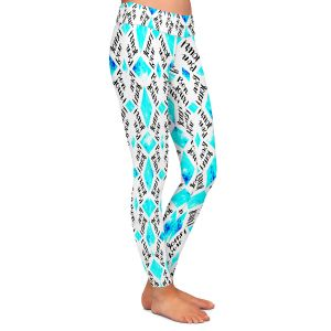 Casual Comfortable Leggings | Zara Martina - Bonjour Pattern Blue
