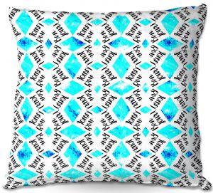 Throw Pillows Decorative Artistic | Zara Martina - Bonjour Pattern Blue