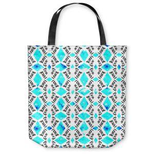 Unique Shoulder Bag Tote Bags |Zara Martina - Bonjour Pattern Blue