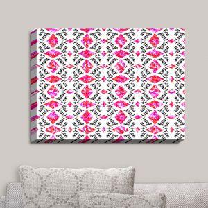 Decorative Canvas Wall Art | Zara Martina - Bonjour Pattern Pink | Bonjour Patterns