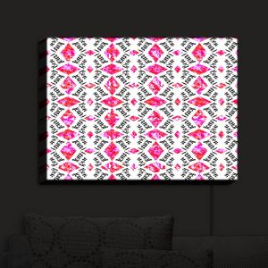 Nightlight Sconce Canvas Light | Zara Martina - Bonjour Pattern Pink | Bonjour Patterns