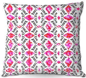 Throw Pillows Decorative Artistic | Zara Martina - Bonjour Pattern Pink