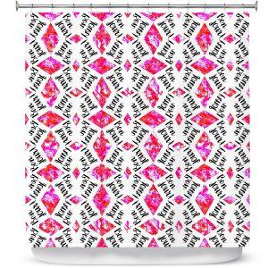 Premium Shower Curtains   Zara Martina - Bonjour Pattern Pink