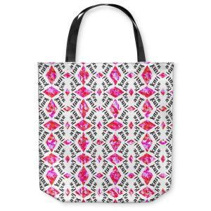 Unique Shoulder Bag Tote Bags |Zara Martina - Bonjour Pattern Pink