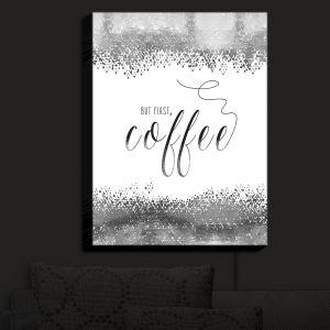 Nightlight Sconce Canvas Light | Zara Martina - But First Coffee Silver