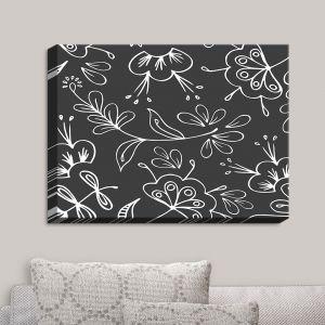 Decorative Canvas Wall Art | Zara Martina - Charcoal Flora Mix