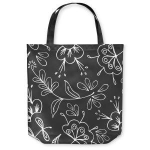 Unique Shoulder Bag Tote Bags | Zara Martina - Charcoal Flora Mix