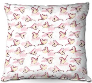 Throw Pillows Decorative Artistic | Zara Martina - Cotton Candy Bird | nature flight pattern