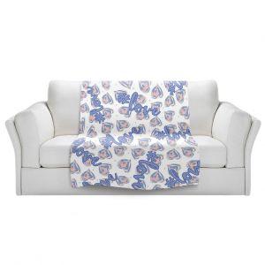 Artistic Sherpa Pile Blankets | Zara Martina - Floating Hearts Hashtag Love