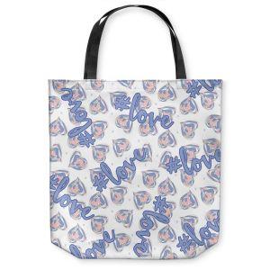 Unique Shoulder Bag Tote Bags | Zara Martina - Floating Hearts Hashtag Love