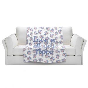 Artistic Sherpa Pile Blankets | Zara Martina - Floating Hearts Love