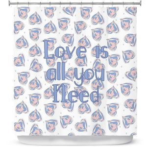 Premium Shower Curtains | Zara Martina - Floating Hearts Love