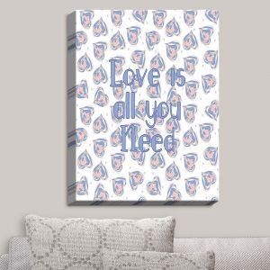 Decorative Canvas Wall Art | Zara Martina - Floating Hearts Love | Quotes Patterns Hearts