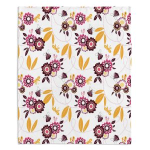 Decorative Fleece Throw Blankets | Zara Martina - Flower Fairy | pattern nature