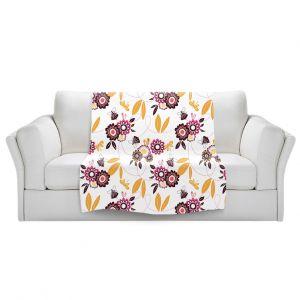 Artistic Sherpa Pile Blankets | Zara Martina - Flower Fairy | pattern nature