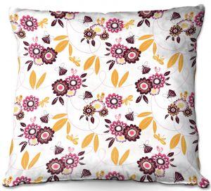 Decorative Outdoor Patio Pillow Cushion | Zara Martina - Flower Fairy | pattern nature