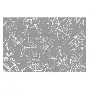 Decorative Floor Coverings | Zara Martina - Grey Flora Mix